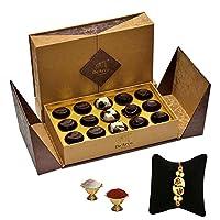 De'Arco Chocolatier Premium Luxurious Rakhi Gift Chocolate Box, Dark Chocolate Rakhi Gift Hamper for Brother, 15pcs + Free 1 Rakhi + Free Roli Chawal