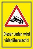 Video-Überwachung Aufkleber - Laden wird videoüberwacht - 15x10cm – S00349-027-C – Kamera-Überwachung +++ in 20 Varianten erhältlich