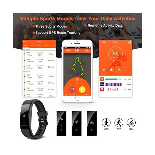 ELEGIANT Pulsera de Actividad Inteligente Reloj Deportivo IP67 para Hombre Mujer con GPS Monitor de Sueño Podómetro… 4
