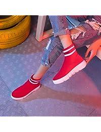 Shukun Botines Calcetines Zapatos Mujer Moda de Verano Deportes Zapatillas  Altas Zapatillas de Baile Callejero de 5fcd82c6c2b