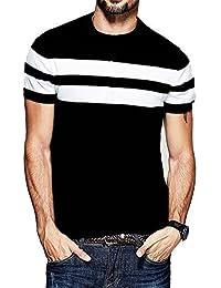 Veirdo Printed Full Sleeve Black Round Neck Men's Cotton Tshirt