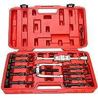 FreeTec–Juego de 16piezas con extractor de cojinete interno y Extractor de cojinete de agujero ciego con martillo deslizante