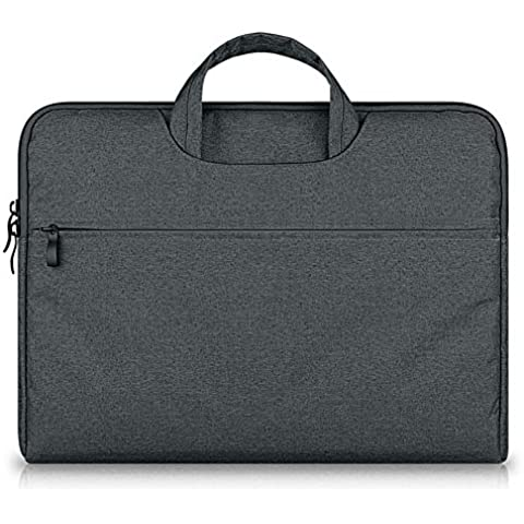 G7Explorer Water-resistant Laptop Sleeve Case Bag Portable Computer handbag For Apple Macbook Air Pro and other Notebook 11.6 inches Deep Gray