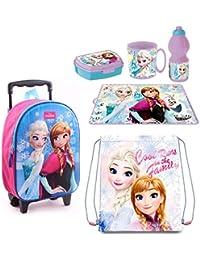 60ef9e24d8 Frozen Principesse Zainetto Zaino Trolley in 3D, Sacca Sport, Set Colazione  Merenda Scuola Materna