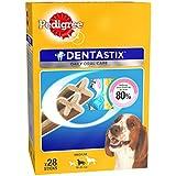 Pedigree Dentastix (Value Pack) Dental Care Dog Treat for Adult Medium Breed(10-25kg) Dogs, 720 g Monthly Pack (28 Sticks)