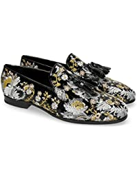 dc15abe6e7104 MELVIN   HAMILTON MH HAND MADE SHOES OF CLASS Clive 6 Soft Patent Oriental  Embrodery Multi