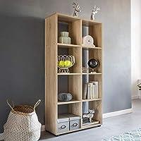 Wohnling Diseño Estante Zara con 8 Compartimentos Sonoma Roble 70 x 142 x 29 cm |