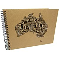 Personalised A3/A4/A5 Travel Holiday Scrapbook, Photo Album, EU, USA, Australia