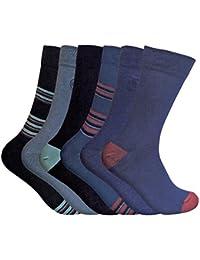 6 Pairs Mens Funky Soft Antibacterial Colourful Patterned Bamboo Dress Socks 7-11 UK