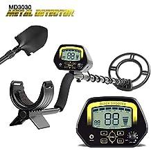 HUKOER Detector de Metales MD3030 de Alta sensibilidad, Detector de Dinero de Cobre de Oro
