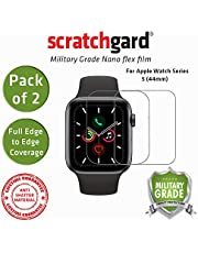Scratchgard 2-Pack i Watch Series 5 44mm Unbreakable Nano Flex Full Edge to Edge Cover Film Screen Protector for Apple Watch Series 5 44mm [ Pack of 2 ]