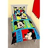 Disney Mickey Mouse Bright giratorio Impresión edredón, poliéster, multicolor, Single