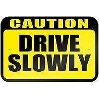 Precaución Disco lentamente 9x 6aluminio señal de Metal Signs Vintage señales de tráfico placas de lata Signs placa decorativa