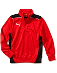 PUMA - Camiseta de fútbol sala para niño, tamaño 152 UK, color rojo / negro