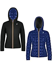 K-WAY 3015V Giubbotto Bimba Girl Reversible Blue/Black Piumino Jacket