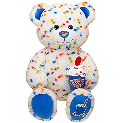 Build a Bear Workshop Rainbow Colored Candy Confetti Sprinkles Blizzard Scented DQ Dairy Queen Ice Cream Teddy 17 in. Stuffed Plush Toy Animal by Build-A-Bear Workshop