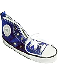 WEDO Trousse scolaire Motif Chaussure de sport sneaker scintillant Bleu