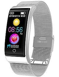 CYGGJ Smart Watch F4, Smartwatch Resistente al Agua para Mujeres, Hombres, niños, rastreador de Actividad física con frecuencia cardíaca/presión Arterial/podómetro/calorías