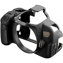 Easycover ECC650D - Funda de silicona para Canon 650D/700D, color negro