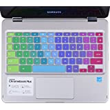 CaseBuy Colorful Keyboard Cover Skin for for Samsung Chromebook Plus 2017 / Samsung Chromebook Pro 2017 XE513C24, Rainbow