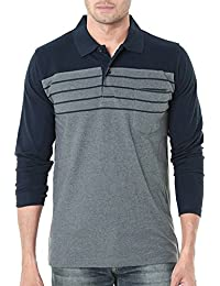 Scatchite Men's Cotton Polo Neck Full Sleeves Casual T-Shirt