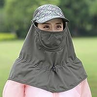 LBY Sombrero De La Protección del Sol Protección Ultravioleta Sombrero del Sol Sombrero De Sol Al Aire Libre Femenino Que Monta La Máscara Plegable Sombreros de Sol