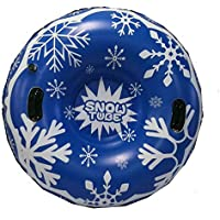 atteryhui Tubo de Nieve Inflable de 47 Pulgadas, Suministros de esquí de Trineo de Nieve, Juguete de esquí de Invierno, para niños y Adultos Nice judicious