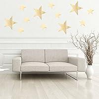 broadroot 39pcs DIY Star pegatinas de pared, extraíble de estrellas Home decoración de la pared dorado