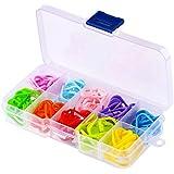 Yakamoz 100pcs Tricot Crochet Coloré Point de Verrouillage Marqueurs Stitch Aiguilles Clip Support 10 Couleur Avec Boîte