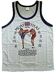 Débardeur pour femme sans manches pour femme sport Muay Thai hommes T-shirt en coton 100% fabriqué en Thaïlande
