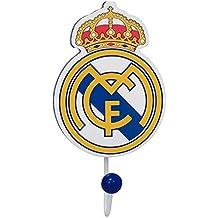 Real Madrid CF Gancho de Pared, Sintético y Madera, Multicolor, 15x5x10 cm