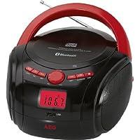 AEG SR 4348 BT Red-Black Bluetooth Cd-Radio - Red - ukpricecomparsion.eu