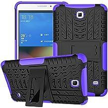 Funda para Samsung Galaxy Tab 4 7.0,XITODA Hybrid TPU silicone & Duro PC Protección Cover para Samsung Galaxy Tab 4 7.0 pulgadas SM-T230/T231/T235 Tablet Case Funda con Kickstand / Stand - Púrpura