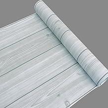 LoveFaye Forro para cajones autoadhesivo, textura de madera, papel de contacto de PVC, 43 cm x 3 m, color gris