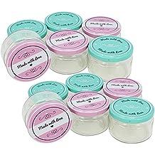 COM-FOUR® 12x frascos conservadores con tapa de rosca
