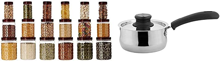 Amazon Brand - Solimo Checkered Jar