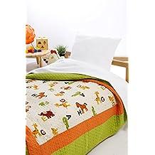 Colcha bouti infantil microfibra estampada modelo Farm - cama 90 - medida 180x270
