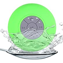 Generica - Altavoz Bluetooth con ventosa resistente al agua ideal Ducha Verde