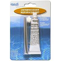 unterwasserrepa Temperatura de Juego de mediPOOL–Pegamento especial de bajo agua (Kit de reparación)–Bajo el agua–Set de reparación para piscina pool––Funda interior–Pantalla Reparación