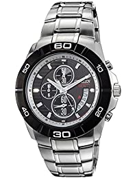 Citizen AN3411-51E - Reloj para hombres, correa de acero inoxidable color plateado