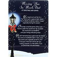 "Loving Memory Christmas Graveside Memorial Card - Missing You Dad 6"" x 4"""