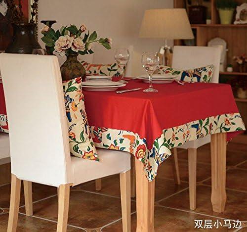 130 x 130 130 130 cm beige rosso floreale cavallo Garden picnic rettangolare da pranzo rustico American Instagram tovaglia cotone lino quadrato eco-friendly copre B076BLBBTH Parent | Buy Speciale  | Design lussureggiante  | Vinci l'elogio dei clienti  dc6e67