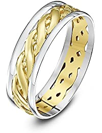 Theia Unisex Highly Polished Court Shape Celtic 9 ct Gold Wedding Ring