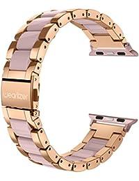 Correa de acero inoxidable para el Apple Watch Serie 3, 2 y 1, 38mm roségold