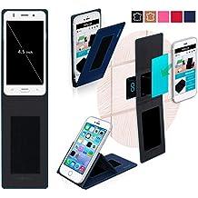 Funda para Jiake N9200 Mini en Azul - Innovadora Funda 4 en 1-Anti-Gravedad para Montaje en Pared, Soporte de Smartphone en Vehículos, Soporte de Smartphone - Protector Anti-Golpes para Coches y Paredes sin necesidad de herramientas o pegamento - Funda de Reboon para Jiake N9200 Mini Original