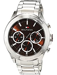 Tommy Hilfiger Mens Quartz Watch, multi dial Display and Stainless Steel Strap 1791229