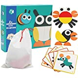 Early Childhood Educational Toy, Wooden Jigsaw puzzle, Ability of Cognizance, Creative Animal Characters, Safe Material, 3 Ye