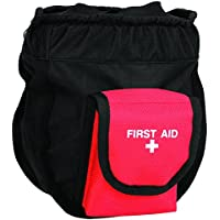 Weaver Leder Ditty/Erste Hilfe Tasche, Schwarz/Rot preisvergleich bei billige-tabletten.eu