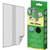 Protección Insectos Tela Mosquitera para puertas con Cinta de velcro 110x210 cm - Antracita