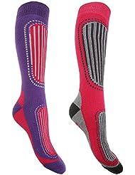 FLOSO - Chaussettes de ski (2 paires) - Femme